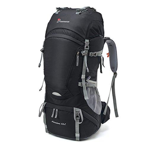 MOUNTAINTOP 65L Trekkingrucksack Wanderrucksäcke für Camping, Wandern, Bergsteigen, Reisen mit Regenhülle