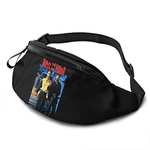 XCNGG Bolso de cintura corriente bolso de cintura de ocio bolso de cintura bolso de cintura de moda Boyz N The Hood Unisex Running Waist Packs Casual Waist Bag Can Hold Small Objects Such As Mobile Ph