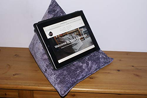 """Techbed Maxi: iPad Tablet & ebook reader Stand Bean Bag Cushion Holder for all devices inc 12.9"""" (Heather)"""