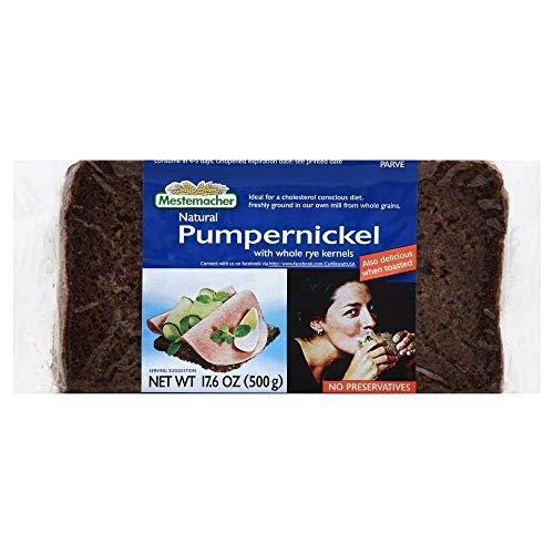 Mestemacher Bread Pumpernickel, 17.6 Oz (Pack of 6), Set of 2