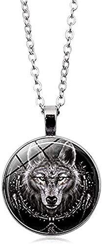 CCXXYANG Co.,ltd Necklace 1 Pcs. Wolf Head Necklace Pendant Animal Power Norse Viking Amulet Necklaces Pendants Men Women Gift Jewelry