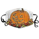 Kürbis Clipart Free Herbst Bedruckte Mundmaske, Unisex, Anti-Staub-Masken, Wiederverwendbare Gesichtsmaske