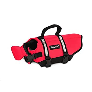 Zippy Paws Life Jacket Dog, Red, Small Click on image for further info.