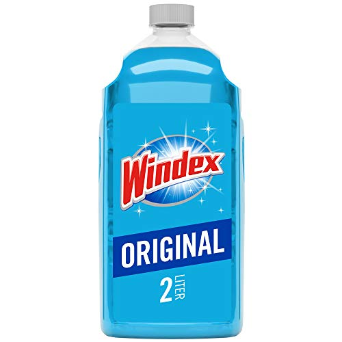 Windex Glass and Window Cleaner Refill, Original Blue, 67.6 Fl Oz