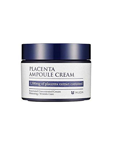Mizon PLACENTA AMPOULE CREAM 50ml, Feuchtigkeitspeflege, 1500mg Plazentaextrakt, Koreanische Kosmetik