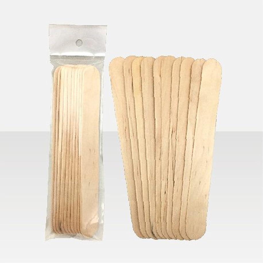 リマーク荒廃するローンブラジリアンワックス 脱毛ワックス用  ワックススパチュラ 木ベラ /10本セット Mサイズ