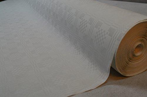 TOP Marques Collectibles 100 Meter Lang 100 cm Breit Farbe: Weiss/Weiß Tischdecke Papier Damastprägung Tischtuch Papierttischdecke Decke Rolle Papiertischdeckenrolle Papierdecke