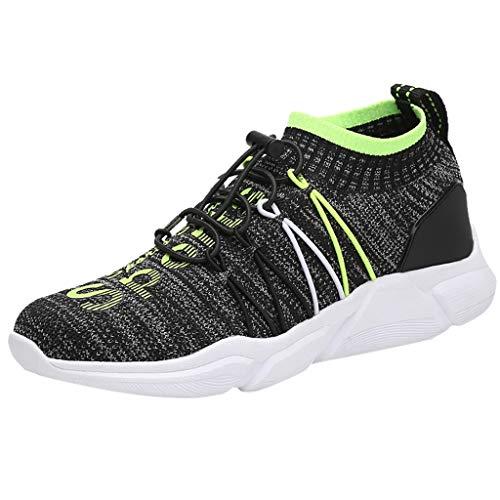 TWIFER Zapatos para Mujer,Las Mujeres de Moda de Malla de Aumento de Zapatos Blandos Fondo de balancín Zapatillas Gimnasio Casual Running Transpirable Aumentar Más Altos Sneakers