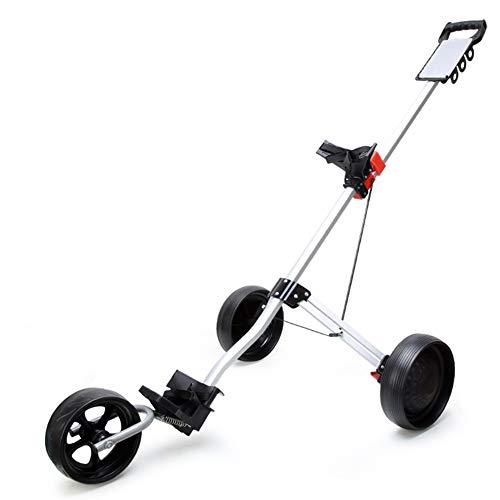 WZP-3-Rad-Herren-Push/Pull-Golfwagen + kostenlose Wasserflasche, Koffer leicht zu tragen und langlebig für den Golfplatz.