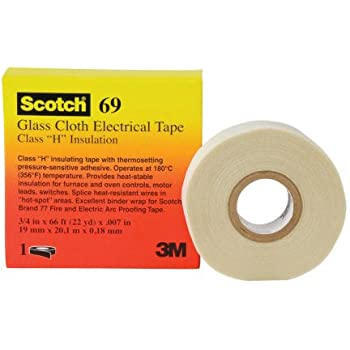 Set 2 3M Scotch Cloth Electrical Tape 27 Class B Insulation Size 1//2 in x 66 ft