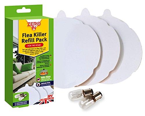 Sparset Leimpapier (3 Stück) und Ersatzlampen (2 Stück) für die elektronische elektrische Flohfalle