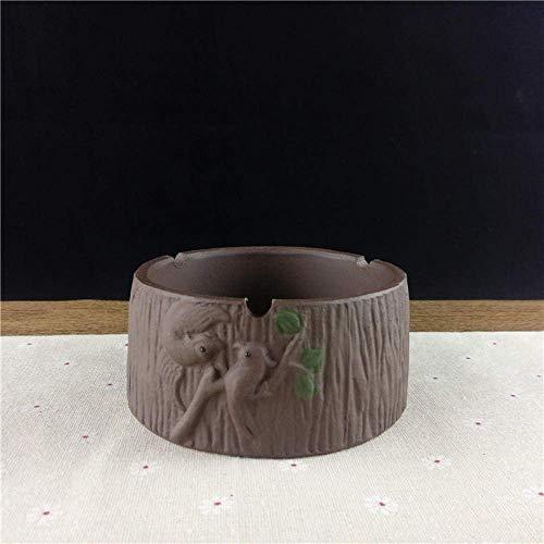 MLOZS Cenicero Cenicero de Interior con la Tapa púrpura de Arena Cenicero Inicio Sala de Estar Mesa Creativo Grande cenicero de cerámica