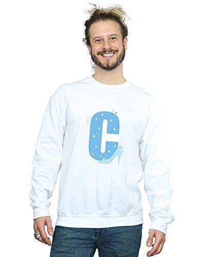 Disney Herren Alphabet C is for Cinderella Sweatshirt Weiß XXX-Large