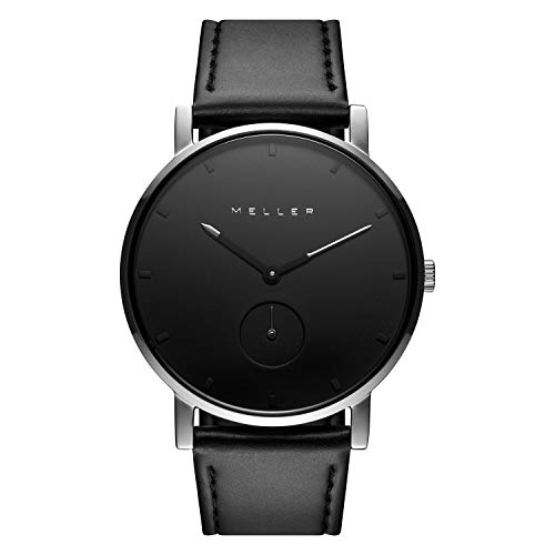 Meller Unisex Erwachsene Analog Quarz Uhr mit Edelstahl Armband 2S-1BLACK