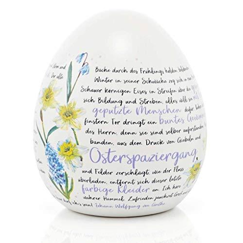 Keramik-Osterei Goethes »Osterspaziergang«