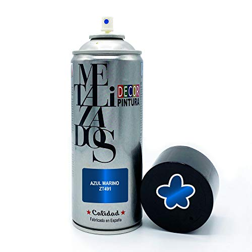 Pintura Spray METALIZADA Azul Marino 400ml imprimacion para madera, metal, ceramica, plasticos / Pinta Radiadores, bicicleta, coche, plasticos, microondas, graffiti