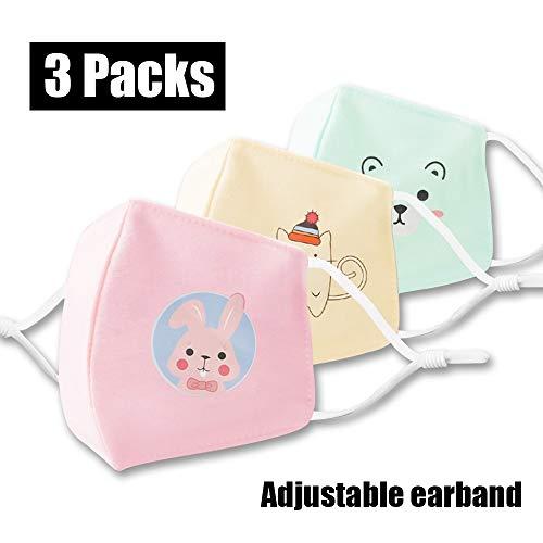 100% Baumwolle Kindermasken Sonnenschutzstaubdicht Warm Maske Soft Skin freundliche Schutzhülle Duschhaube 7inch 12packs (Color : 3 packs, Size : S)