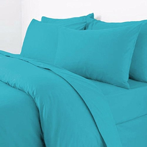 Rohi Easy Care Plain Duvet Cover, Quilt Cover Set with Pillowcases, Bedroom Bedding Bed Set (King, Teal)