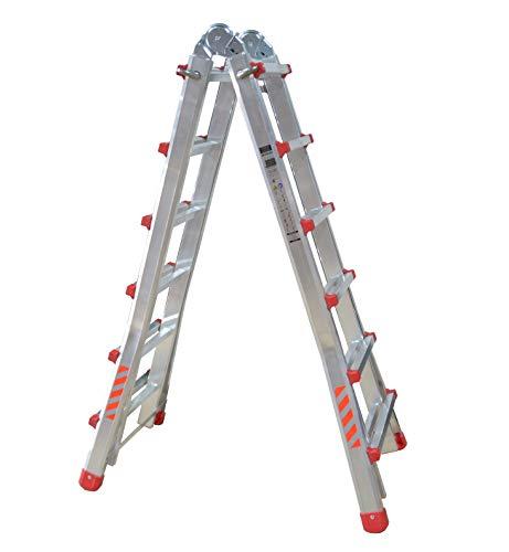 Escalera Plegable DE ALUMINO MULTIFUNCION Extensible 4 x 6 P