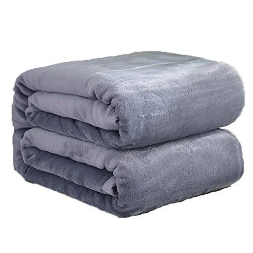 MTXD Grote deken, flanelkleurige fleece sprei lichtgrijs, superzacht, wollig, warm, stevige sprei voor sofadeken van microvezel -12.7