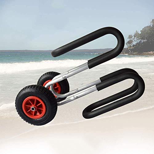 YLLN SUP, Stand Up Paddle Board Cart mit einfach zu bedienendem Beach 2-Wheel Trolley 75KG Schwarz