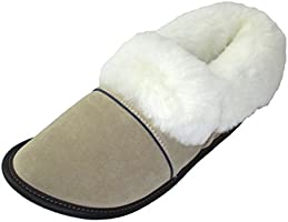 Made in Canada - Garneau Authentic Sheepskin Slippers for Women – Soft, Non Slip Sole and Suede Slippers - Memory Foam -...