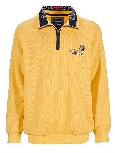 BABISTA Herren Sweatshirt Langarm mit Umlegekragen in Gelb aus Baumwolle mit modischem Druck im Kragen