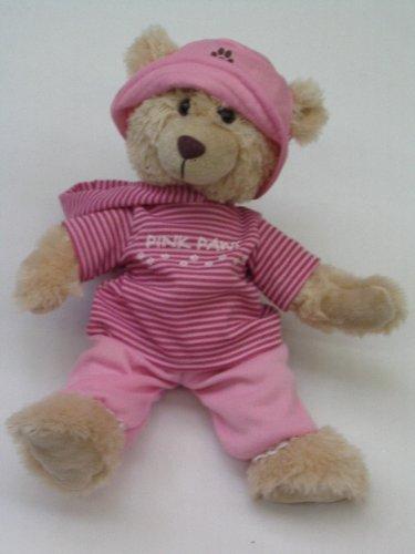 Kuschel Teddy Plüschtier zum selber stopfen / Mod 3 Rosa geschtreift 42 cm hoch