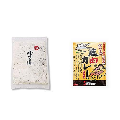 [2点セット] 浅漬けの素[大](300g)・信州遠山 鹿肉カレー 中辛 (1食分)
