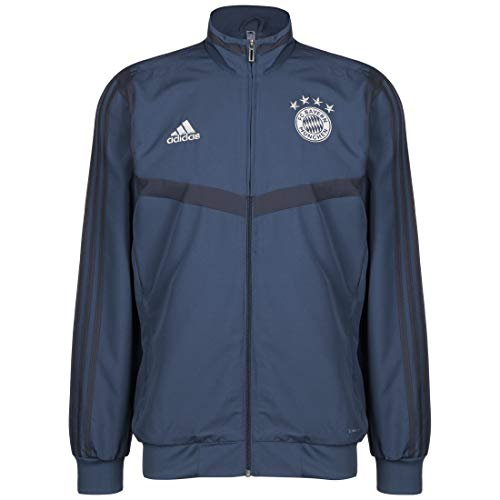 adidas Herren FCB Pre JKT Weste, braun/blau, L
