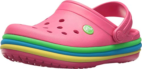 crocs Unisex Cb Rainbow Band Clog K Paradise Pink Clogs