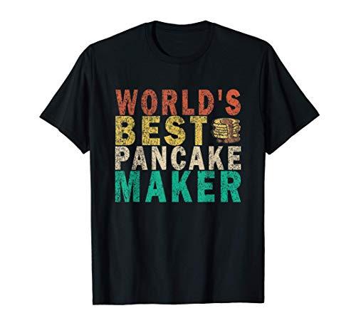 World's Best Pancake Maker Funny Retro T-Shirt
