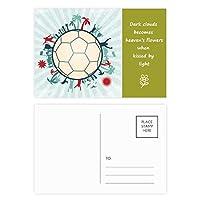 地球の木のサッカー・スポーツ 詩のポストカードセットサンクスカード郵送側20個