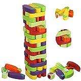 BeebeeRun Wackelturm Spielzeug für Mädchen Jungs und Erwachsene,Brettspiele,Gemüse,Kinderspiele ab 3 Jahre mehr