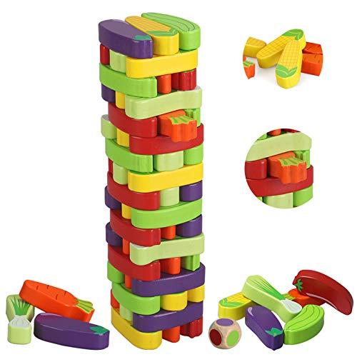 BeebeeRun Juego de Torre de Bloques de Madera,Juegos de Mesa Niños Adulto,Juego niño 3 años más