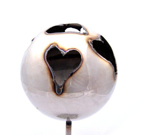Gartenfackel Feuerkugel XL – Herz, Höhe: 100 cm , Gewicht: 0.8 kg, Durchmesser: 18 cm