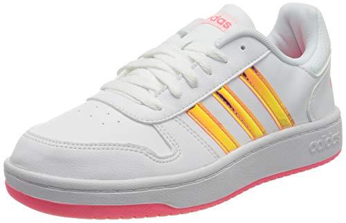 adidas Hoops 2.0 K, Zapatillas de básquetbol Unisex Adulto, Ftwbla Ftwbla Rossen, 39 1/3 EU