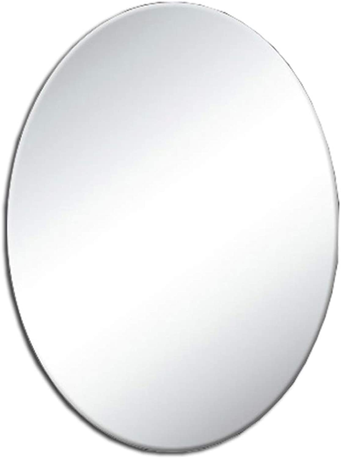 Mirror, Wall Mounted HD Vanity Mirror, European Oval Bathroom Mirror, No Border (Size   45x60cm)