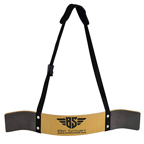 BeSmart Fitness Bizeps-Isolator Arme Blaster Bomber Gewichtheben Gym Gurt, Herren, goldfarben