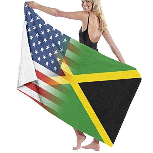 asdew987 Toallas de playa de Jamaica Bandera Americana Toallas de baño para adolescentes niñas adultos toalla de viaje toalla de 76 x 127 cm