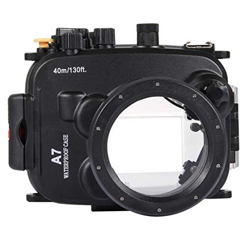 CCDYLQQSK Funda Impermeable para Sony A7 A7S A7R, Funda Sumergible para cámara Sumergible para natación subacuática - Fotografía subacuática de 40 m / 130 pies