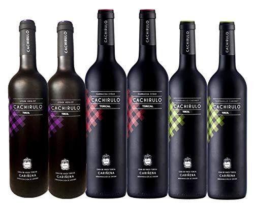 Caja de 6 Botellas - Surtido Cachirulo Rojo, Verde, Morado - 2018 - DOP Cariñena - Bodega de quinta generación