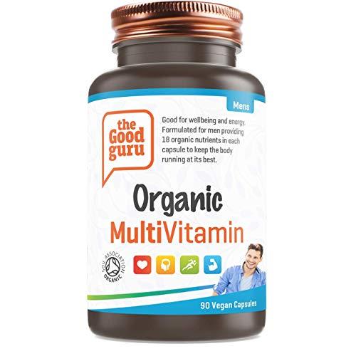 The Good Guru Organic Multivitamin for Men, Vegan Multivitamin Capsules -...