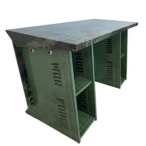 Mesa Gamer Soldier Codename: X13 es la Pieza Ideal para tu habitación. 138 x 60 x 77 cm Resistente y Duradero.