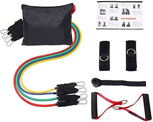 Bande de résistance Ensemble, Latex câble de Traction Machine d'entraînement Multi-Sports à usages 10 pièces, l'exercice de la Maison, la Musculation, Yoga, Ensemble de 10 pièces,Ensemble.