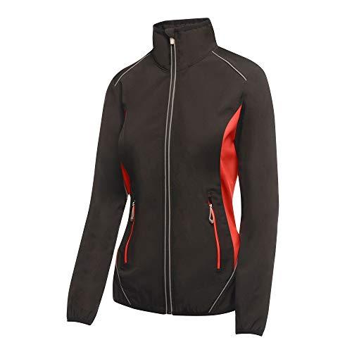 adidas Damen Sochi Softshell Sweatjacke, Schwarz (Black/Classic Red 157), Herstellergröße: 14 (40)