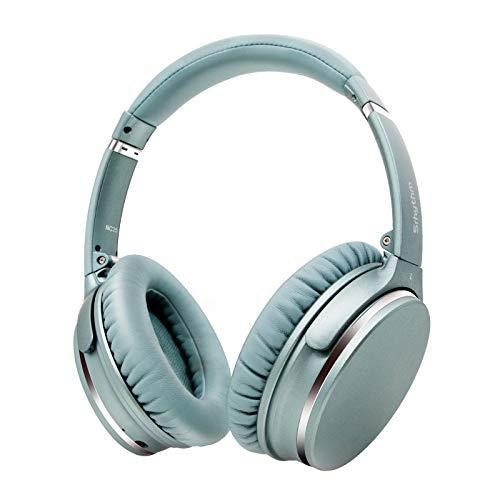 Casque Bluetooth sans Fil à Réduction de Bruit Active Bluetooth 5.0, Casque Audio Stéréo avec 50H,Assistant Vocal,Mode de Jeu à Faible Latence, Srhythm Version NC-25 2020 (Menthe-Verte)