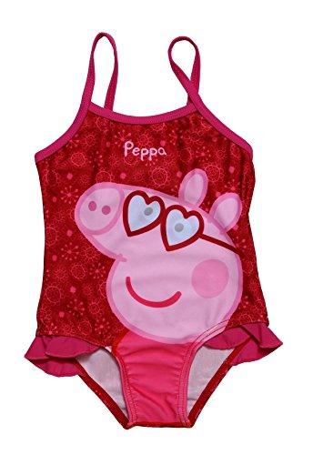 Unbekannt Peppa Pig Badeanzug Pink, Peppa mit Herz-Sonnenbrille (1 Jahr)