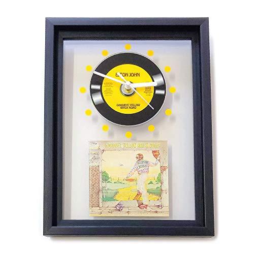 ELTON JOHN - Goodbye Yellow Brick Road: GERAHMTE CD-WANDUHR/Exklusives Design