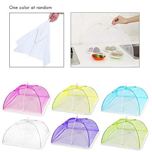 Mallalah Pop-Up mesh scherm voedsel Cover tenten, inklapbare paraplu tent houden uit vliegen, insecten, muggen (Random kleur)